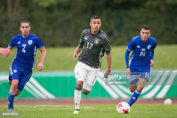 Oliver Batista Meier of Germany controls the ball during the 'Four Nations Tournament' match between U17 Germany and U17 Israel on September 10 2017...
