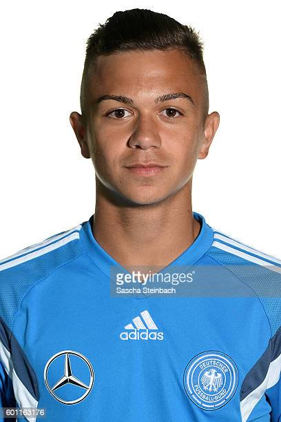 Oliver Batista Meier poses during the Germany U16 Team Presentation on September 9 2016 in Kamen Germany