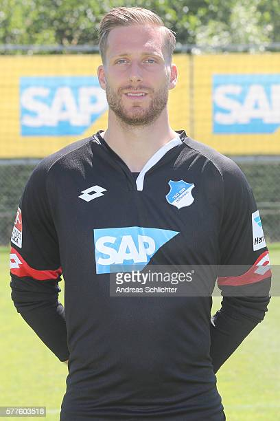 Oliver Baumann poses during the offical team presentation of TSG 1899 Hoffenheim on July 19 2016 in Sinsheim Germany