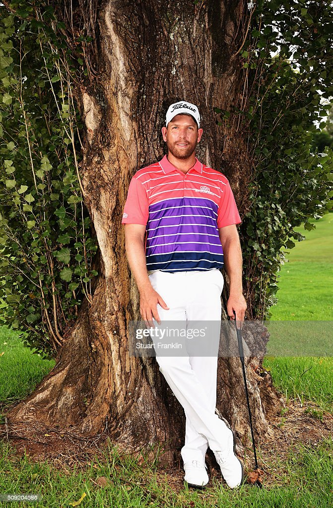 Oliver Bekker of South Africa poses for a picture prior to the start of the Tshwane Open at Pretoria Country Club on February 09, 2016 in Pretoria, South Africa.