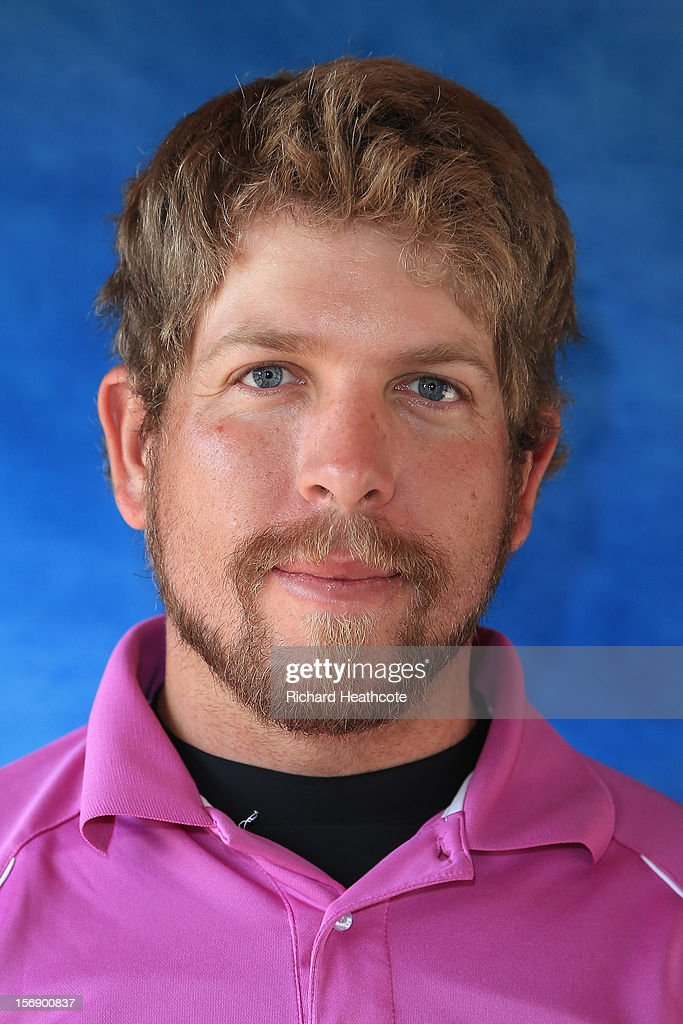 Oliver Bekker of South Africa poses for a portrait after the first round of the European Tour Qualifying School Finals at PGA Catalunya Resort on November 24, 2012 in Girona, Spain.