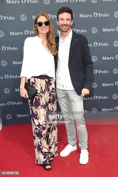 Oliver Berben and his wife Katrin Berben during the 50th anniversary celebration of Marc O'Polo at its headquarters on July 6 2017 in Stephanskirchen...