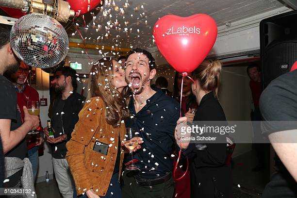 Oliver Berben and his wife Katrin Berben during the 'Drunk In Love' Party hosted by Constantin Film and zLabels on February 14 2016 in Berlin Germany