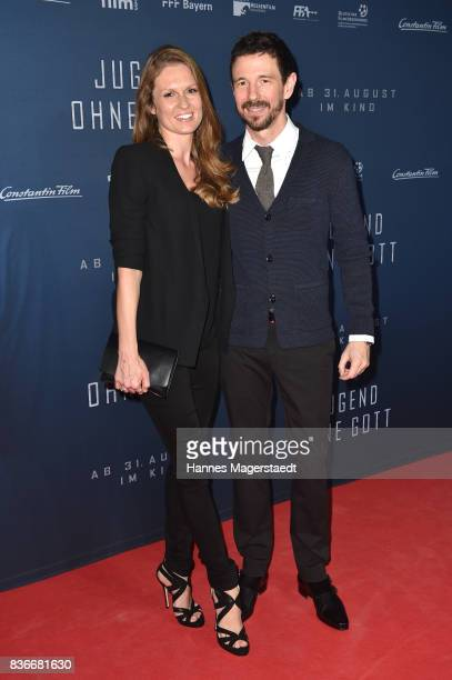 Oliver Berben and his wife Katrin Berben during the 'Jugend ohne Gott' premiere at Mathaeser Filmpalast on August 21 2017 in Munich Germany