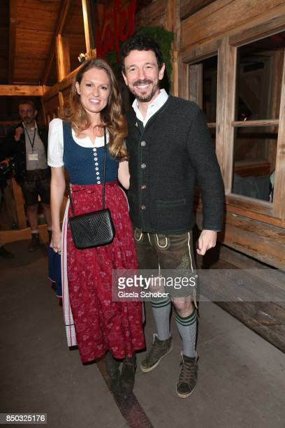 Oliver Berben and his wife Katrin Berben during the Oktoberfest at Theresienwiese on September 20 2017 in Munich Germany