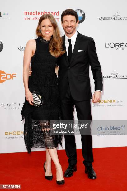 Oliver Berben and his wife Katrin Kraus during the Lola German Film Award red carpet arrivals at Messe Berlin on April 28 2017 in Berlin Germany