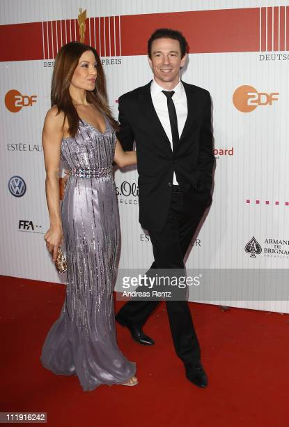 Oliver Berben and Iris Tanz arrive at the red carpet for the 'Lola German Film Award 2011' at Friedrichstadtpalast on April 8 2011 in Berlin Germany