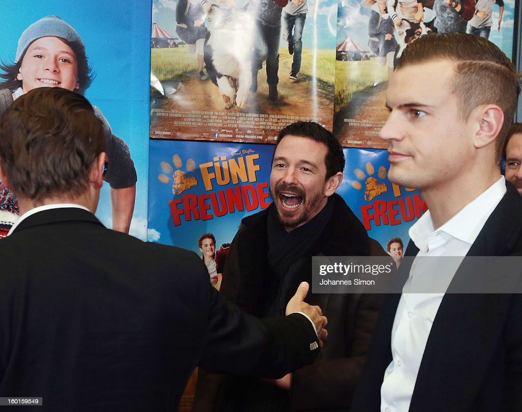Oliver Berben arrives for the 'Fuenf Freunde 2' movie premiere at CineMaxx Cinema on January 27, 2013 in Munich, Germany.