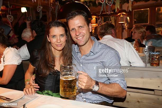 Oliver Bierhoff and his wife Klara Bierhoff during the Oktoberfest 2015 at Kaeferschaenke at Theresienwiese on September 25 2015 in Munich Germany