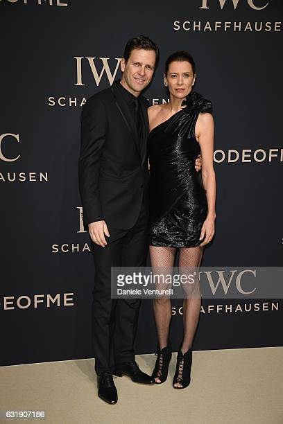 Oliver Bierhoff and Klara Bierhoff arrive at IWC Schaffhausen at SIHH 2017 'Decoding the Beauty of Time' Gala Dinner on January 17 2017 in Geneva...
