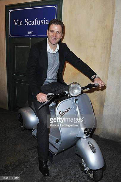 Oliver Bierhoff attends the IWC launch of the Portofino watch range at the SIHH International Fine Watch makers exhibition on January 18 2011 in...