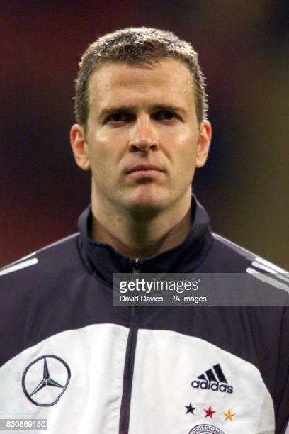 Oliver Bierhoff during the Germany v Wales friendly football match at the Millennium stadium