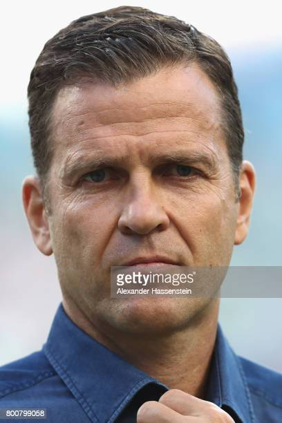 Oliver Bierhoff team manager of team Germany looks on prior to the FIFA Confederations Cup Russia 2017 Group B match between Germany and Cameroon at...