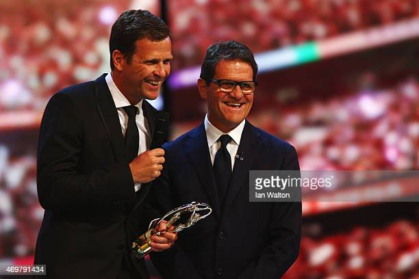 Oliver Bierhoff Team Manager of the German National Football Team accepts the Team of the Year Award on behalf of the German National Football Team...