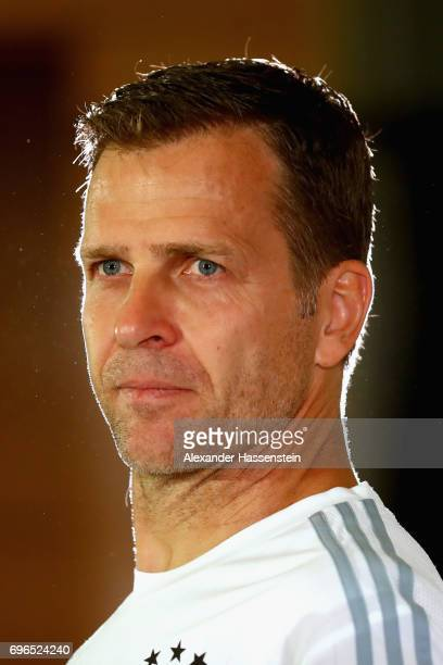 Oliver Bierhoff team manager of the German national team looks on during a Press Conference of the German national team at Radisson Blu Paradise...