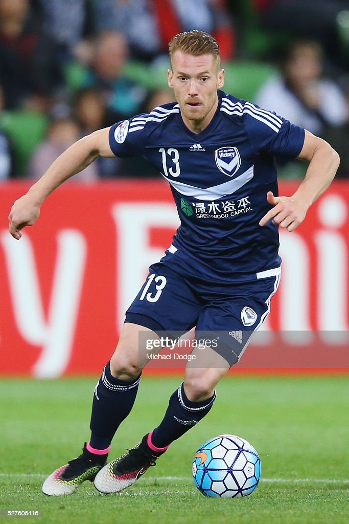 Oliver Bozanic of the Victory looks upfield during the AFC Champions League match between Melbourne Victory and Gamba Osaka at AAMI Park on May 3, 2016 in Melbourne, Australia.