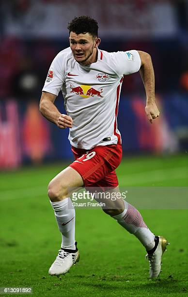 Oliver Burke of Leipzig in action during the Bundesliga match between RB Leipzig and FC Augsburg at Red Bull Arena on September 30 2016 in Leipzig...