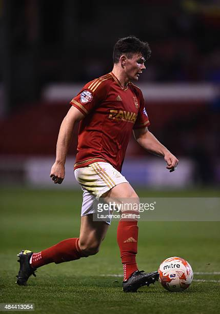 Oliver Burke of Nottingam Forest in action during the Sky Bet Championship match between Nottingham Forest and Charlton Athletic at City Ground on...