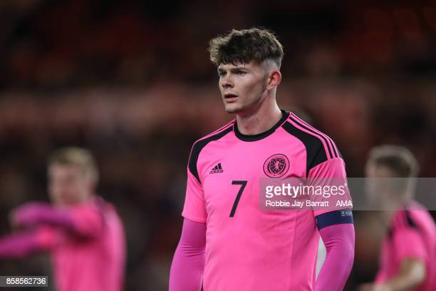 Oliver Burke of Scotland U21 during the UEFA European Under 21 Championship Qualifiers fixture between England U21 and Scotland U21 at Riverside...