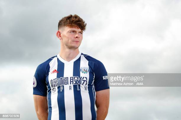 Oliver Burke signs for West Bromwich Albion from RB Leipzig on August 24 2017 in West Bromwich England