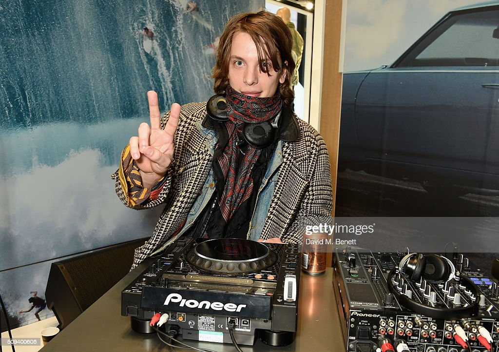 Oliver Burslem of Yak DJs at the Gap Partnership with Lion Coffee + Records Launch Party at Gap Flagship Store, Oxford Street on February 10, 2016 in London, England.