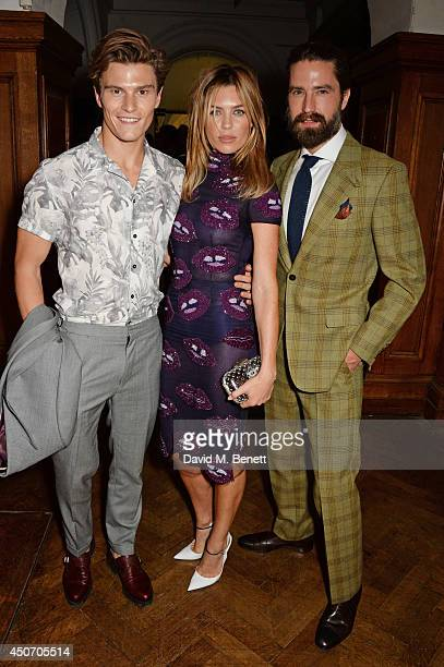 Oliver Cheshire Abbey Clancy and Jack Guinness attend the Jimmy Choo Men's Show Spring Summer 2015 during London Collections Men on June 16 2014 in...