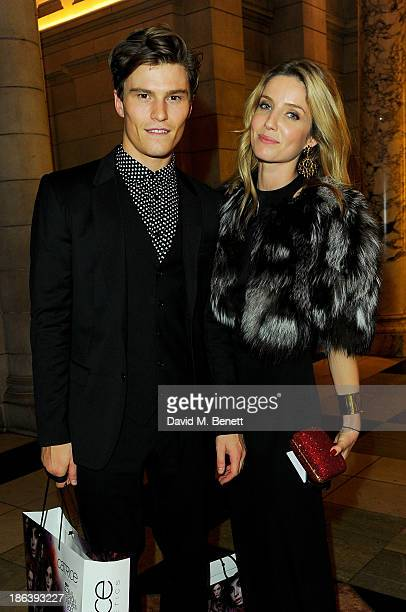 Oliver Cheshire and Annabelle Wallis attend the WGSN Global Fashion Awards after party at the Victoria Albert Museum on October 30 2013 in London...