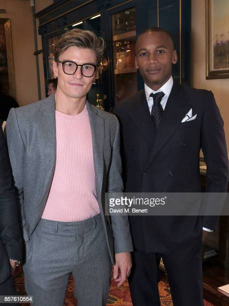 Oliver Cheshire and Eric Underwood attend the Breguet Classic Tour #MyBreguetMoment in association with The Gentleman's Journal at Mark's Club on...