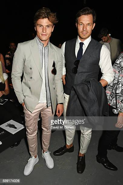 Oliver Cheshire and Paul Sculfor attend the TOPMAN Design show during The London Collections Men SS17 at the Topman Show Space on June 10 2016 in...