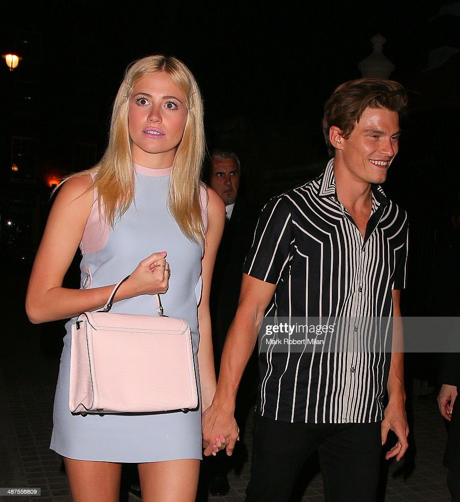 <a gi-track='captionPersonalityLinkClicked' href=/galleries/search?phrase=Oliver+Cheshire&family=editorial&specificpeople=7407100 ng-click='$event.stopPropagation()'>Oliver Cheshire</a> and <a gi-track='captionPersonalityLinkClicked' href=/galleries/search?phrase=Pixie+Lott&family=editorial&specificpeople=5591168 ng-click='$event.stopPropagation()'>Pixie Lott</a> at the Chiltern Firehouse for a Prada event on April 30, 2014 in London, England.