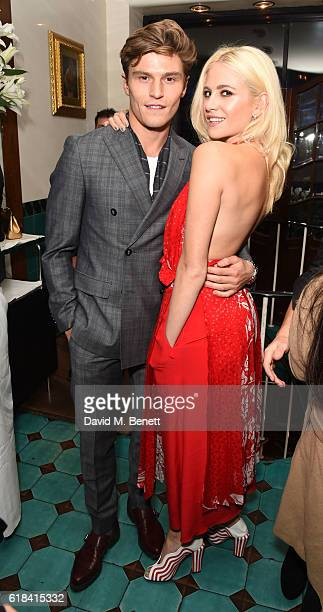 Oliver Cheshire and Pixie Lott attend a private dinner at Mr Chow hosted by william and brother Carl Gilliam to celebrate the launch of their luxury...