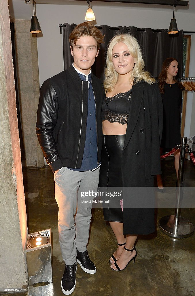 Oliver Cheshire and Pixie Lott attend the Marks & Spencer party to launch Oliver Cheshire as the Face of Autograph Menswear on September 3, 2015 in London, England.