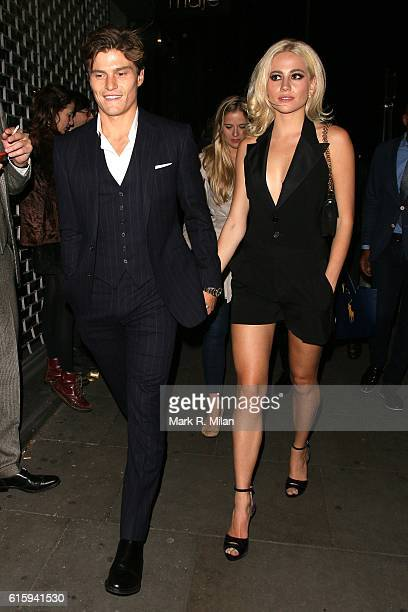 Oliver Cheshire and Pixie Lott attending the Tatler Little Black Book party on October 20 2016 in London England