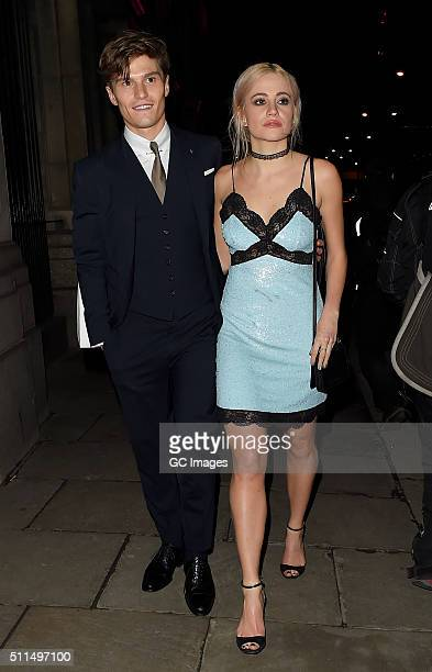 Oliver Cheshire and Pixie Lott attends Naked Heart Foundation Fabulous Fund Fair at Old Billingsgate Market on February 20 2016 in London England