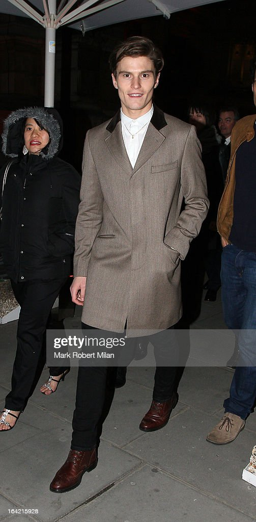 Oliver Cheshire at the private view of 'David Bowie Is' at Victoria & Albert Museum on March 20, 2013 in London, England.