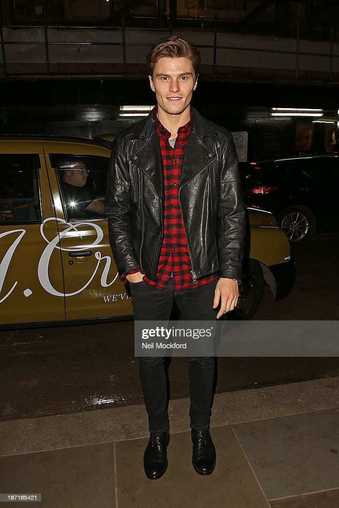 <a gi-track='captionPersonalityLinkClicked' href=/galleries/search?phrase=Oliver+Cheshire&family=editorial&specificpeople=7407100 ng-click='$event.stopPropagation()'>Oliver Cheshire</a> at the UK flagship store launch of J. Crew on November 6, 2013 in London, England.
