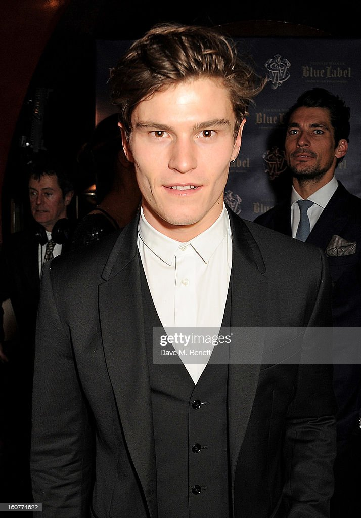 Oliver Cheshire attends a party celebrating the new partnership between Johnnie Walker Blue Label and model David Gandy at Annabels on February 5, 2013 in London, England.