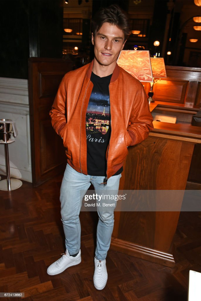 Oliver Cheshire attends a pre-opening dinner hosted by Ed Drewett at Malibu Kitchen, at The Ned, London on April 24, 2017 in London, England.