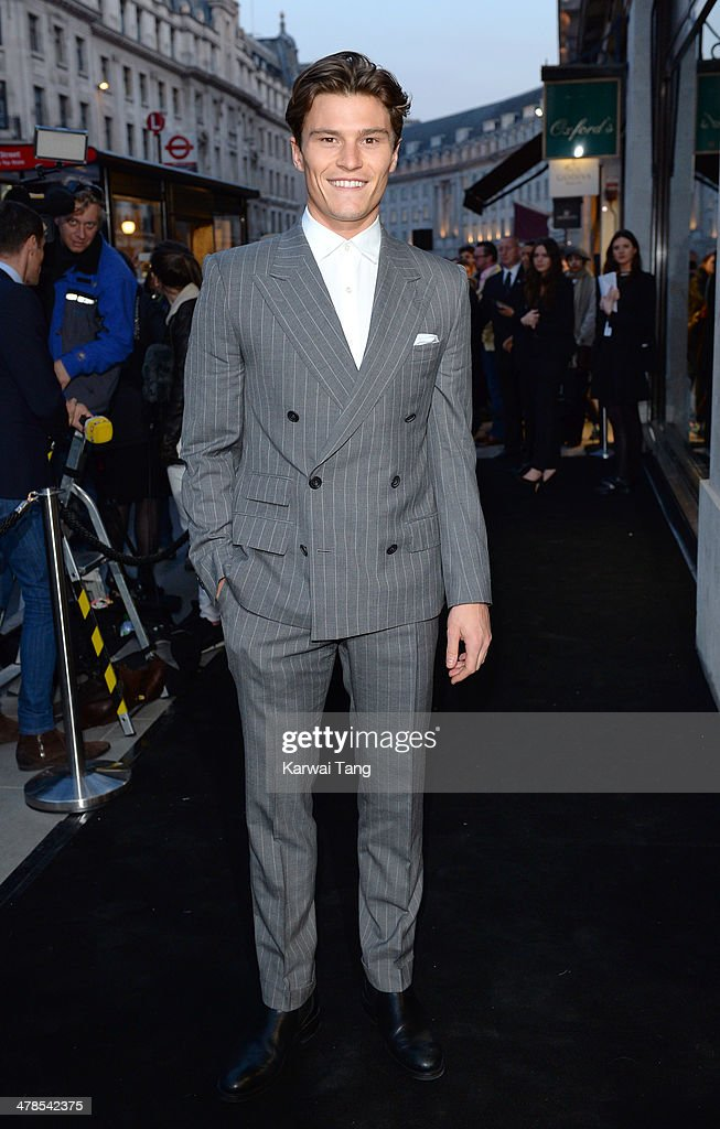 <a gi-track='captionPersonalityLinkClicked' href=/galleries/search?phrase=Oliver+Cheshire&family=editorial&specificpeople=7407100 ng-click='$event.stopPropagation()'>Oliver Cheshire</a> attends the Karl Lagerfeld flagship store opening at Regent Street on March 13, 2014 in London, England.