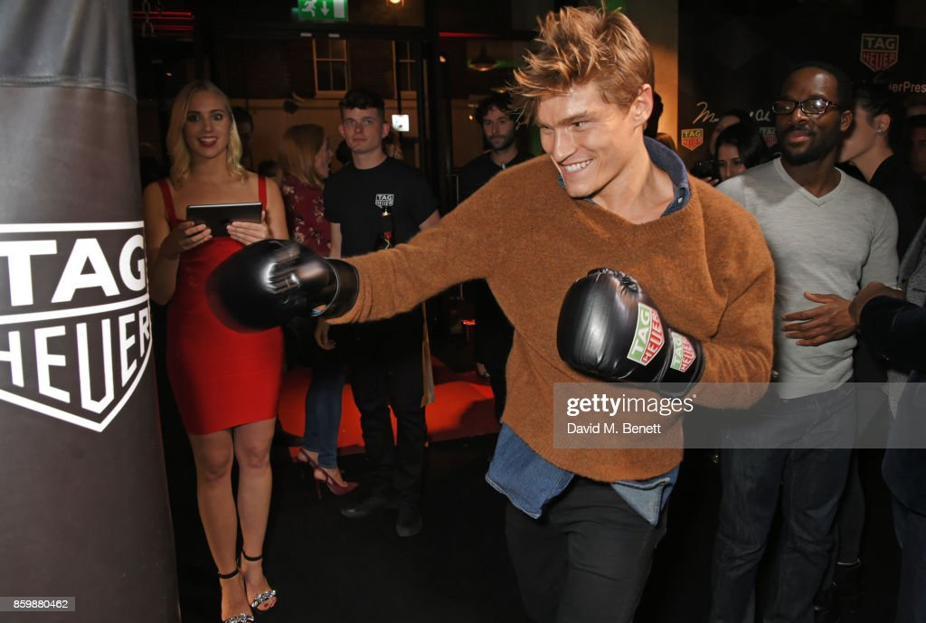 Oliver Cheshire attends the launch of the TAG Heuer Muhammad Ali Limited Edition Timepieces at BXR Gym on October 10, 2017 in London, England.