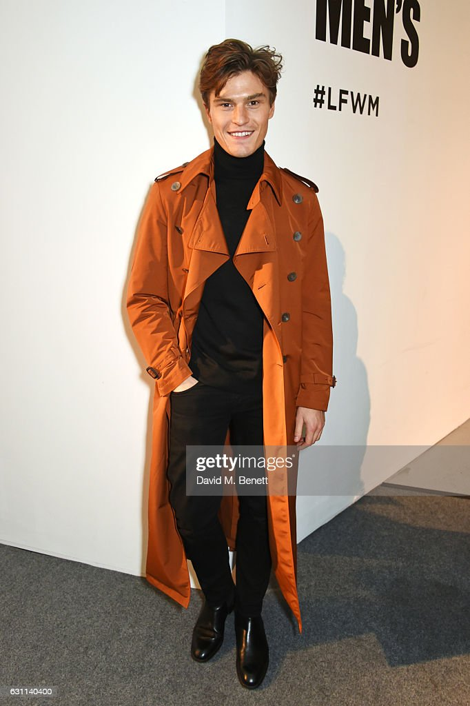 Oliver Cheshire attends the Oliver Spencer AW17 Catwalk Show during London Fashion Week Men's January 2017 at the BFC Show Space on January 7, 2017 in London, England.