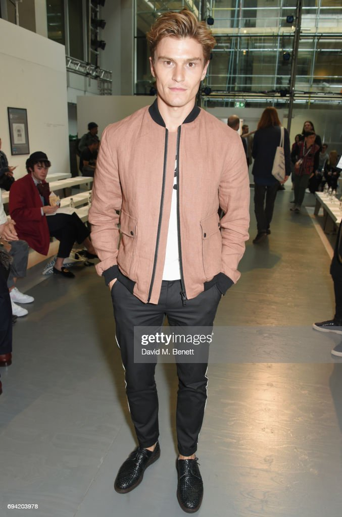 Oliver Cheshire attends the Oliver Spencer SS18 Catwalk Show during London Fashion Week Men's June 2017 on June 9, 2017 in London, England.