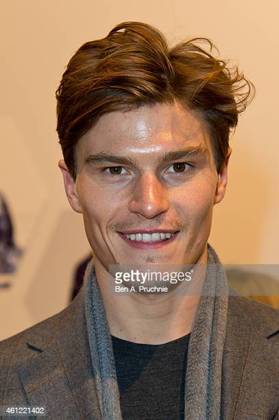 Oliver Cheshire attends the opening event at the London Collections Men AW15 at The Hospital Club on January 9 2015 in London England