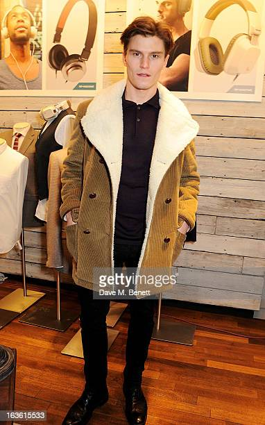 Oliver Cheshire attends the Panasonic Technics 'Shop To The Beat' Party hosted by George Lamb at French Connection Oxford Circus on March 13 2013 in...