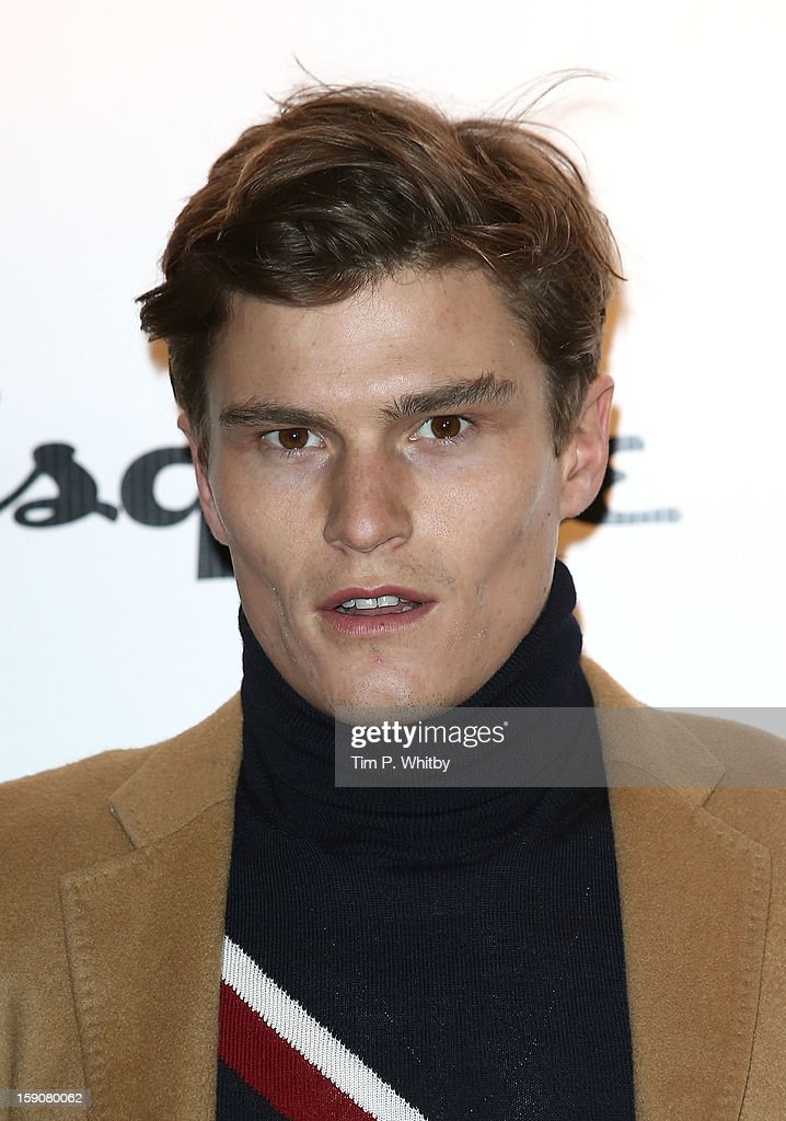 Oliver Cheshire attends the Tommy Hilfiger & Esquire event as part of the London Collections: MEN AW13 at Zetter Townhouse at on January 7, 2013 in London, England.