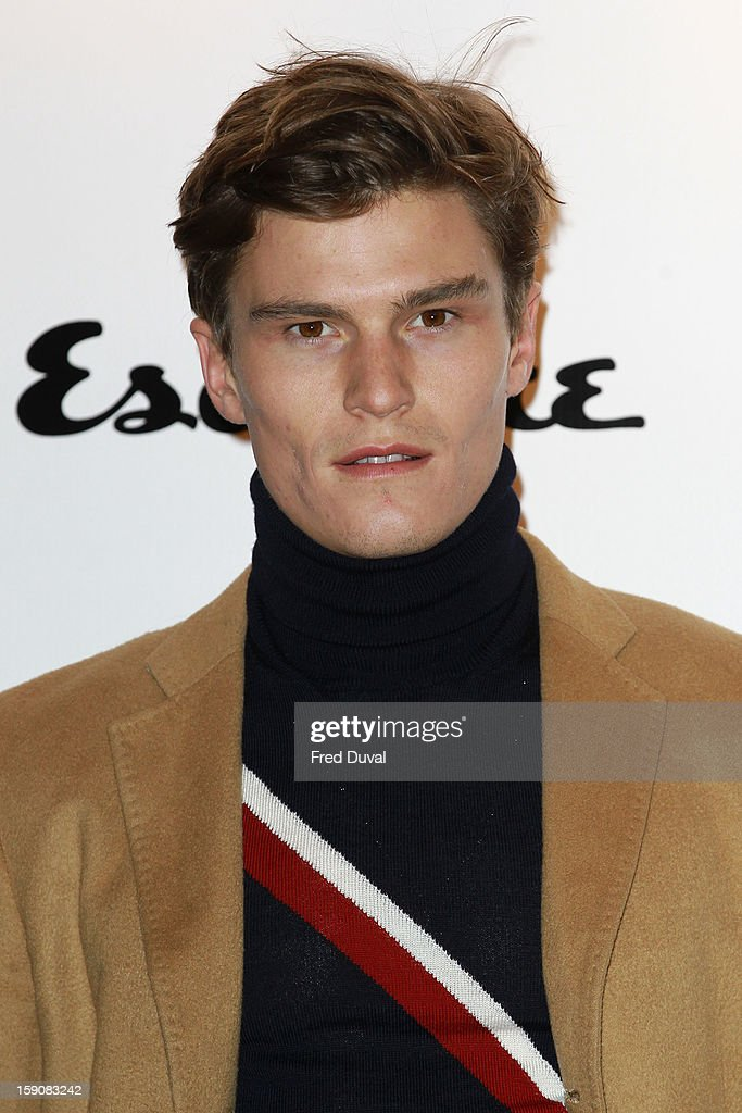 Oliver Cheshire attends the Tommy Hilfiger & Esquire event at the London Collections: MEN AW13 at on January 7, 2013 in London, England.