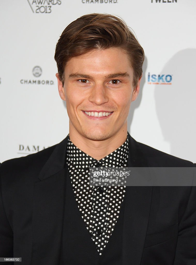 Oliver Cheshire attends the WGSN Global Fahsion awards at Victoria & Albert Museum on October 30, 2013 in London, England.