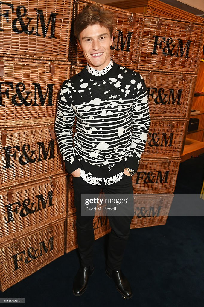 Oliver Cheshire celebrates the launch of London Fashion Week Men's with Esquire and Fortnum & Mason on January 6, 2017 in London, England.