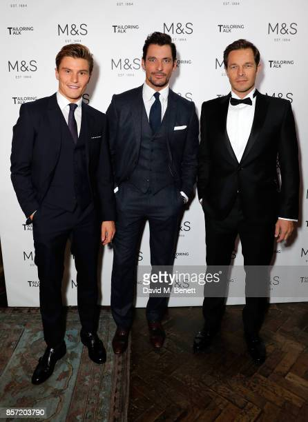 Oliver Cheshire David Gandy and Paul Sculfor attend the MS Tailoring Talk on October 3 2017 in London England