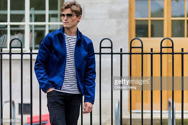Oliver Cheshire outside Coach during The London Collections Men SS17 on June 13 2016 in London England